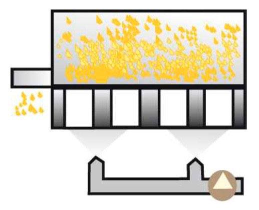 Secagem industrial de alimentos